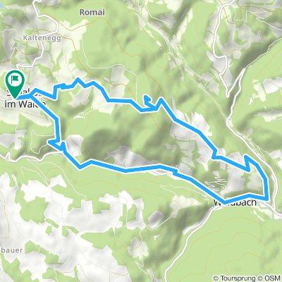 Bergstrecke in St. Jakob im Walde