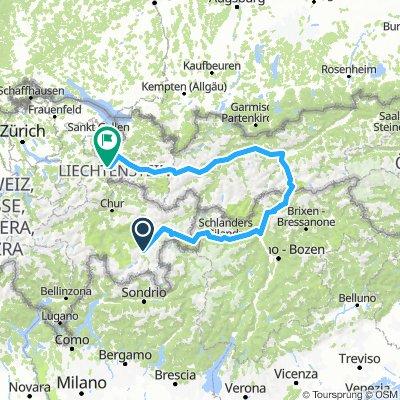 Samedan-Ofenpass-Brenner-Innsbruck-Arlberg-Buchs