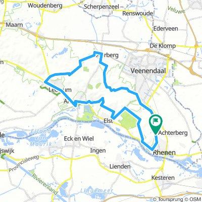 Vanuit Rhenen over de Utrechtse Heuvelrug