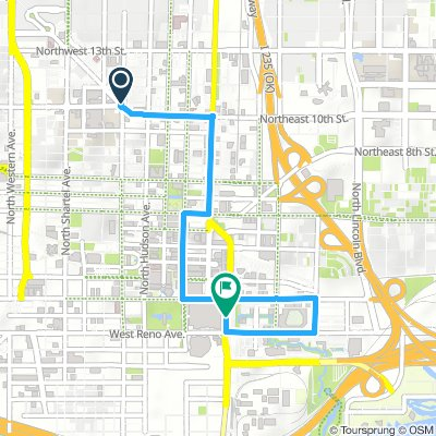 Cycling routes and bike maps in and around Oklahoma City | Bikemap ...