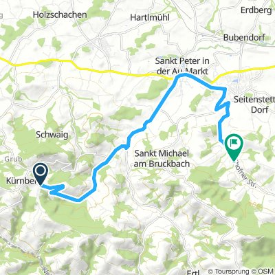 Moderate Freitag Route In Sankt Peter  kürnberg