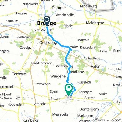 Brugge Tielt 33 km