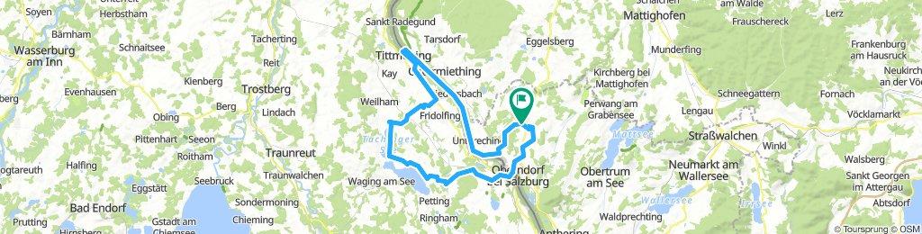 72 km L-Hausen - Laufen - Wagingersee - Tittmoning - Bürmos