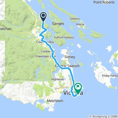 3-ferry Ride - leg #3 - Crofton-Mill Bay-Oak Bay