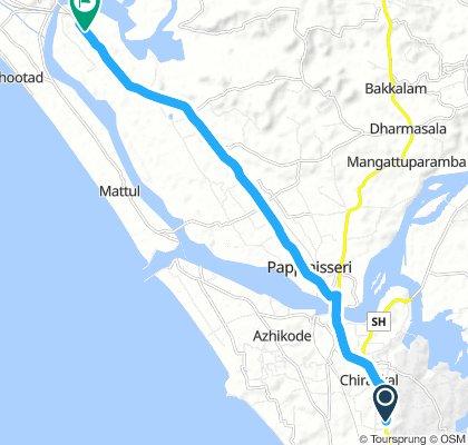 kannur Thavam highway route