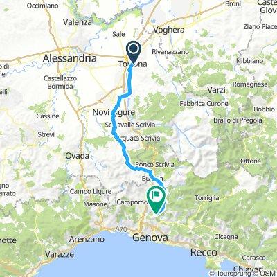 Day 2: Tortona to Torrozza (near Genoa)