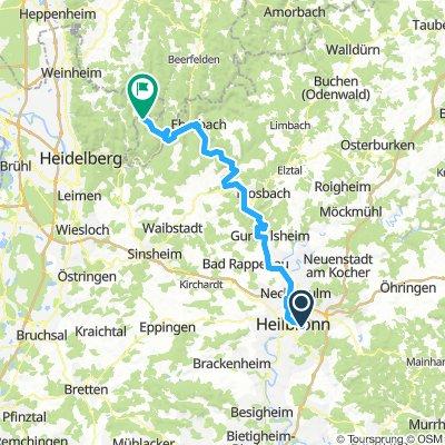 Neckartalradweg 6. Etappe: Heilbronn-langenthal