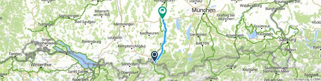 1) Schwangau - Landsberg am Lech