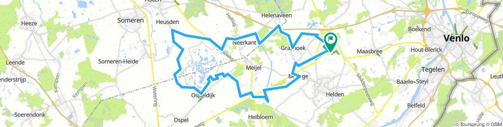 Genieten van de mooie Groote Peel (fietsroute: 115700) - route.nl