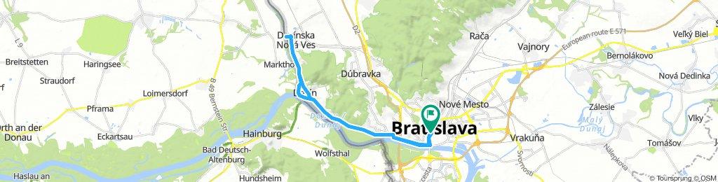 BikeBratislava - Devín Castle - Cyclist's Bridge and back