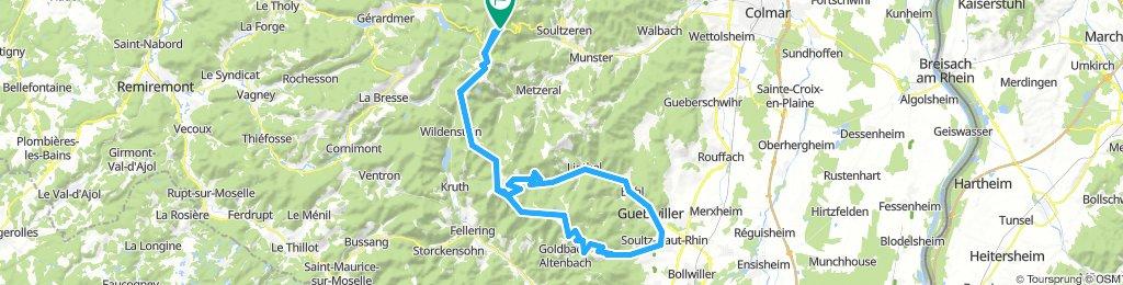 2018 Col de la Schlucht to Grande Ballon, then omitting Petite Ballon
