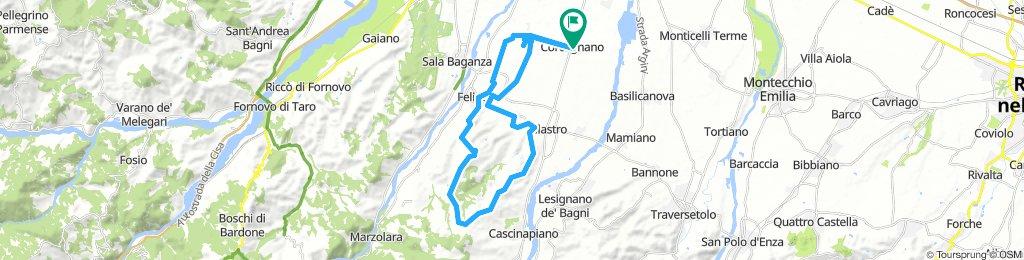 Corcagnano - Felino - Barbiano - Carignano - Villa Malenchini