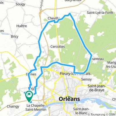 Forêt d'Orléans 54.5 Km