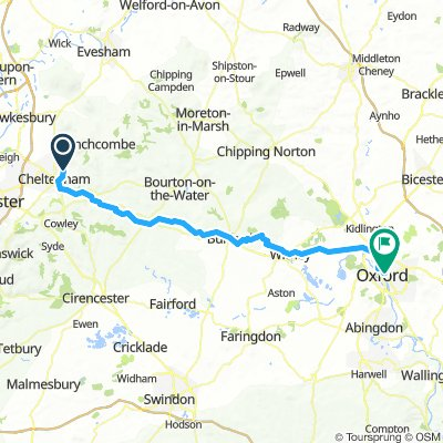 Cheltenham to Oxford