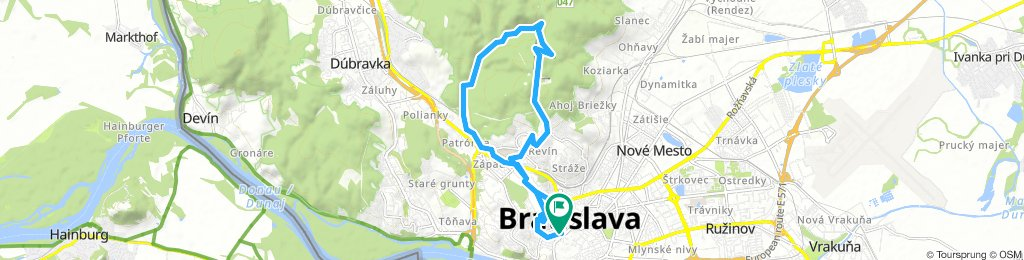 BikeBratislava - Bratislava Forest Park (Železná Studnička, Koliba, Kamzík)