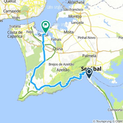 22. Troia Setubal - Lissabon 65,4 km