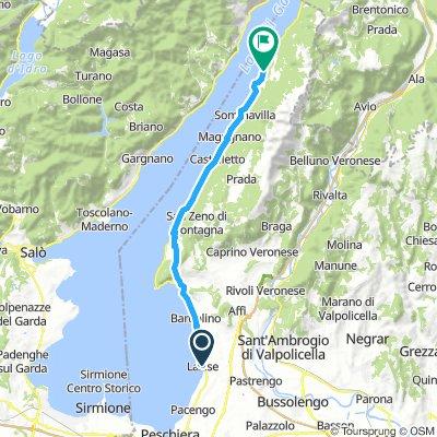 Karte Gardasee Lazise.Lazise Desenzano Del Garda Sirmione Bikemap Deine Radrouten