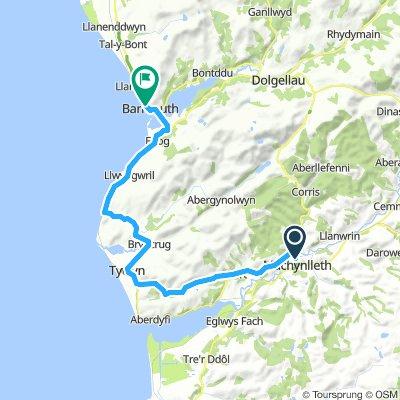 Etappe I Machynlleth - Barmouth