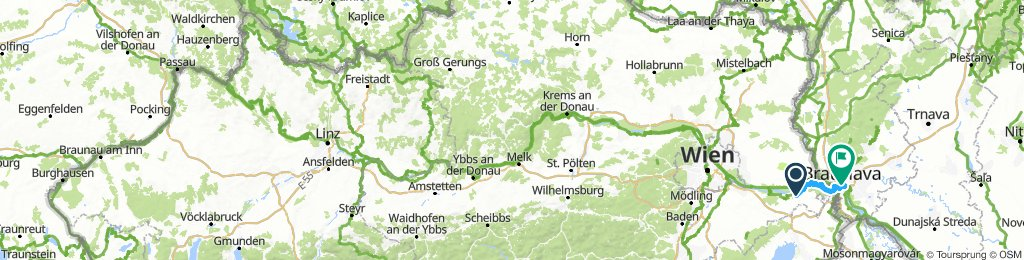 Biketrip Donau Radweb (Passau - Linz - Wien - Bratislava)