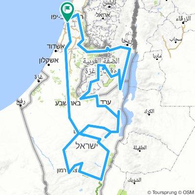Israel Radreise Gesamt