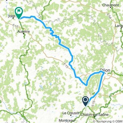 Tour de Bourgogne: santenay - mienne