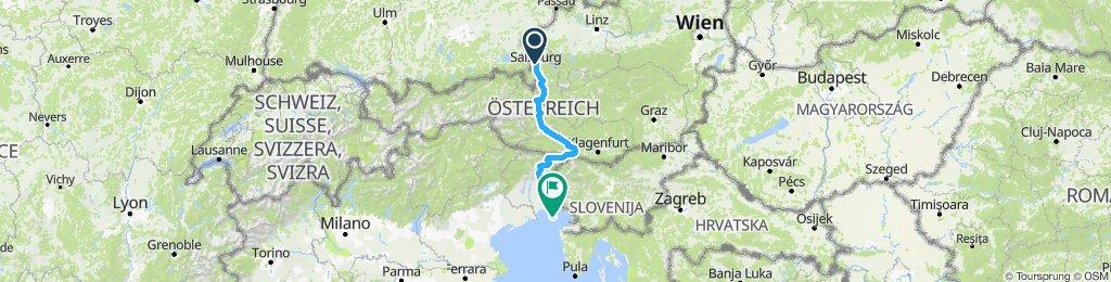 9. Salzburg - Grado | Bikemap - Your bike routes on berchtesgaden map, bad gastein map, prague map, alps map, xanthi map, saalbach hinterglemm map, bruges map, heidelberg map, austria map, hamburg map, albania map, zurich map, sarajevo map, hallstatt map, innsbruck map, wan chai map, qandahar map, munich map, strasbourg map, europe map,