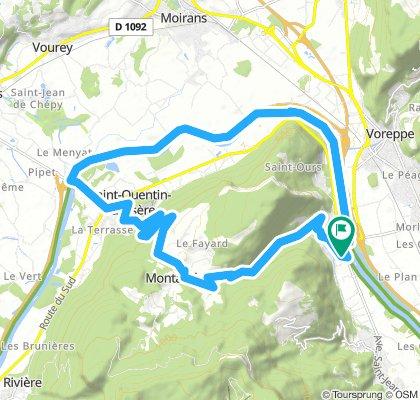 Montée de St quentin sur Isère en boucle depuis Veurey