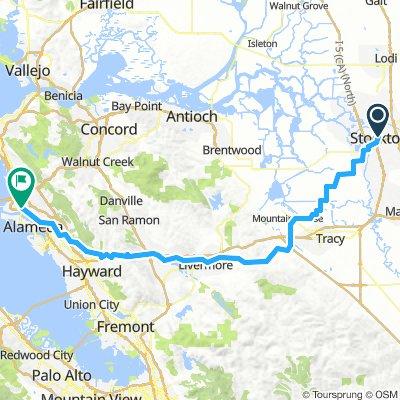Stockton to Oakland