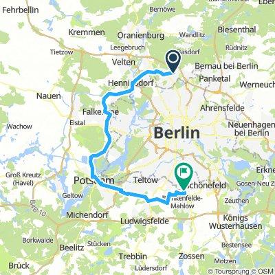 Berlin-Umrundung Tag 2 (2018)
