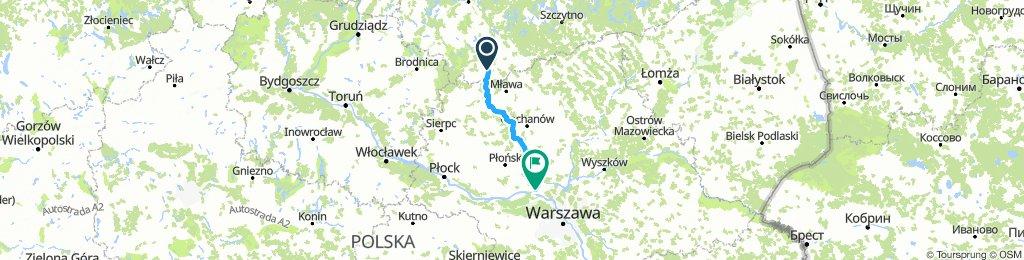 Działdowo boczkami przez Lipowiec, Liberadz, Drogiszkę, Niedzbórz 125km