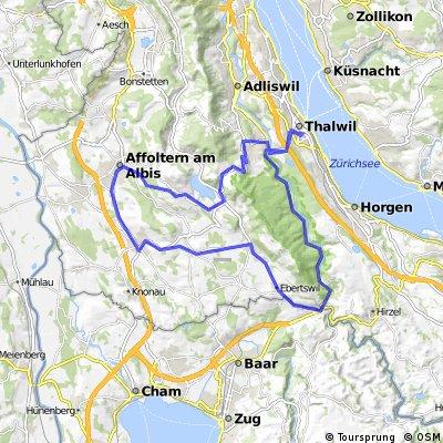 Thalwil - Sihlthal - Mettmenstetten - Albispass