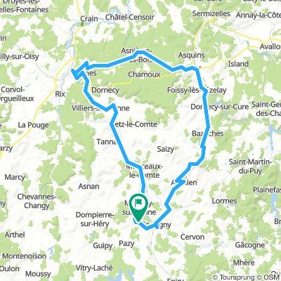 Chitry-Bazoches-Vezelay-Clamecy-Canal Nivernays-Chitry