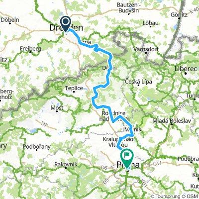 Etappe 6i: Dresden Prag