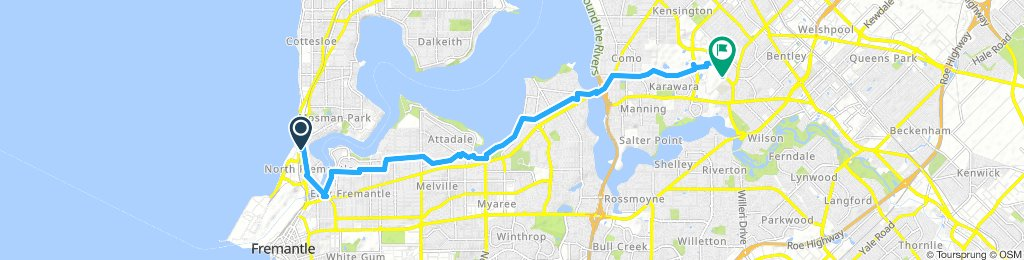 Nth Fremantle to Curtin