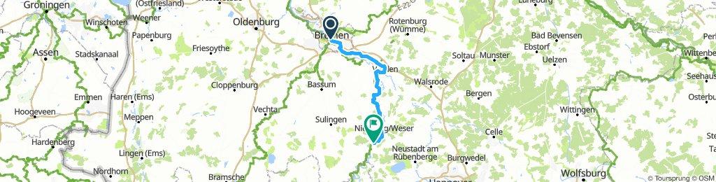 2016 Weserradweg E01 Bremen - Estorf