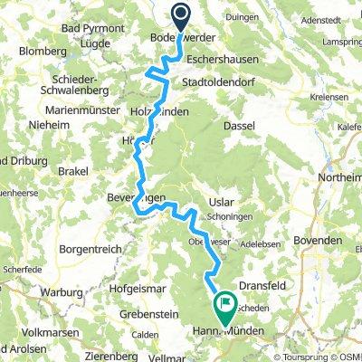 2016 Weserradweg E03 Bodenwerder - Hann. Münden