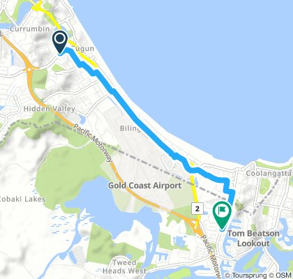 Spred Out Afternoon Route In Tugun