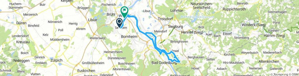 Sechtem - Siegfähre-7 Gebirge-Wesseling