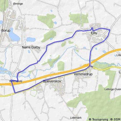 Ejby - kort rute