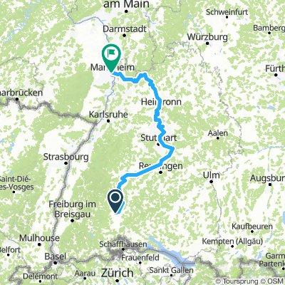 Neckar: Villingen - Ludwigshafen am Rhein