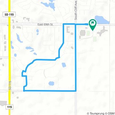 Summer Pe 4 mile route
