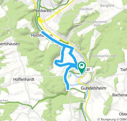 Holzland Triathlon Haßmersheim Radstrecke 2018