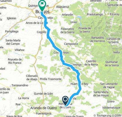 A Burgos desde Peñaranda