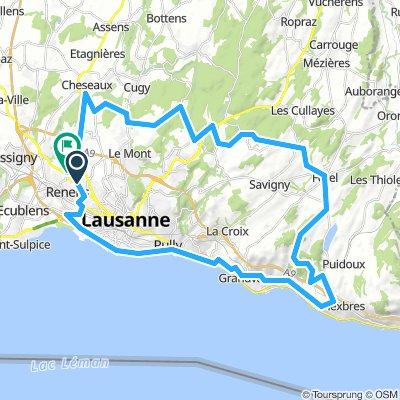Renens - Lavaux - Tour de Gourze - Mollie Margot - Chalet a Gobet