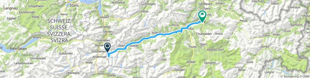 Oberpass to Chur