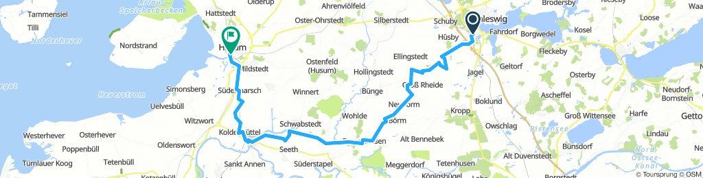 Von Schleswig nach Husum - Radtour zwischen den Meeren