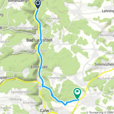 Extensive Samstag Route In Bad Liebenzell