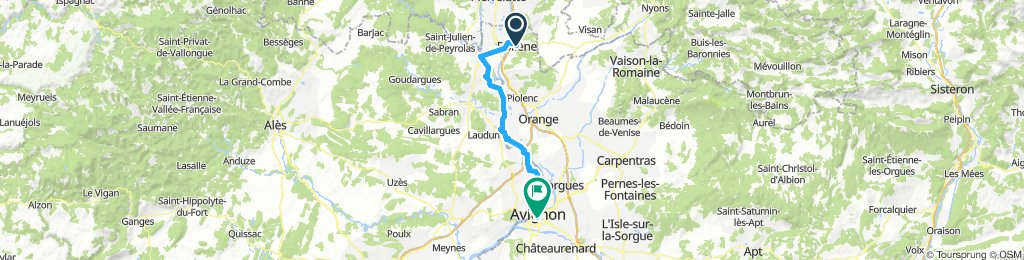 Tappa 7 Bollène - Avignon (+treno) - Carcassonne