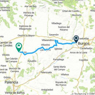 5. Etappe Villalbilla de Burgos nach Poblaicon de Compos