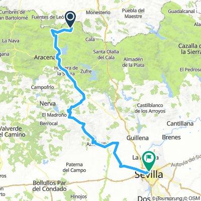 Arroyomolino de Leon to Sevilla